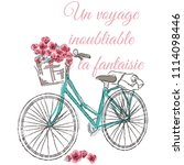 bicycle with print | Shutterstock .eps vector #1114098446