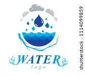 pure water abstract logotype... | Shutterstock . vector #1114099859