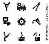 set of 9 simple editable icons... | Shutterstock .eps vector #1114105574