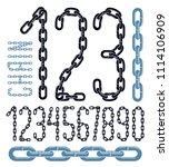 vector numbers  modern numerals ... | Shutterstock . vector #1114106909