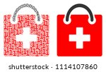first aid kit composition icon... | Shutterstock .eps vector #1114107860