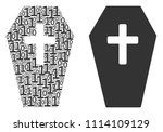coffin composition icon of one...   Shutterstock .eps vector #1114109129