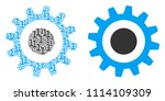 cogwheel composition icon of... | Shutterstock .eps vector #1114109309