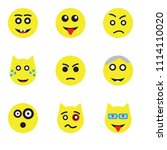set of 9 simple editable icons... | Shutterstock .eps vector #1114110020