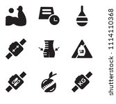set of 9 simple editable icons... | Shutterstock .eps vector #1114110368