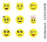 set of 9 simple editable icons...   Shutterstock .eps vector #1114110428