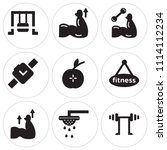 set of 9 simple editable icons... | Shutterstock .eps vector #1114112234