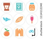set of 9 simple editable icons... | Shutterstock .eps vector #1114112240