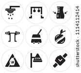 set of 9 simple editable icons... | Shutterstock .eps vector #1114112414