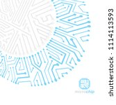 futuristic cybernetic scheme ...   Shutterstock . vector #1114113593