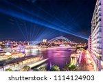 sydney harbour at night | Shutterstock . vector #1114124903