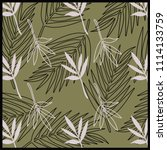 silk scarf nature design with... | Shutterstock .eps vector #1114133759