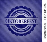oktoberfest emblem with denim...