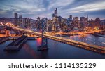 aerial cityscape view of san... | Shutterstock . vector #1114135229
