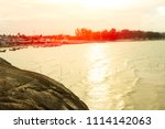sea view from on hill | Shutterstock . vector #1114142063
