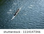 top down view on a four person... | Shutterstock . vector #1114147346