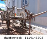 antique wooden wagon | Shutterstock . vector #1114148303