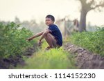 the boy thai children thai  | Shutterstock . vector #1114152230