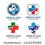 creative cross health medical... | Shutterstock .eps vector #1114159283