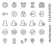 set of basic ui ux icons  with... | Shutterstock .eps vector #1114163450