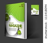 magazine cover layout design... | Shutterstock .eps vector #111418094