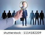 recruitment and employment... | Shutterstock . vector #1114182209