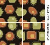 eps10 file. vector set of four... | Shutterstock .eps vector #111419459