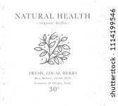 natural health   emblem of... | Shutterstock . vector #1114199546