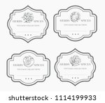 customizable black and white... | Shutterstock .eps vector #1114199933