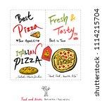 restaurant poster   sketchy... | Shutterstock .eps vector #1114215704