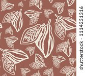seamless pattern with cacao... | Shutterstock .eps vector #1114231316