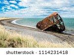 wreck of ambassador tea clipper ... | Shutterstock . vector #1114231418