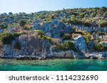 sea  near ruins of the ancient... | Shutterstock . vector #1114232690