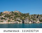 sea  near ruins of the ancient... | Shutterstock . vector #1114232714