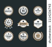 vintage retro vector logo for... | Shutterstock .eps vector #1114236743