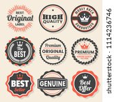 vintage retro vector logo for... | Shutterstock .eps vector #1114236746