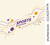 sports poster with dynamic... | Shutterstock .eps vector #1114237979