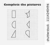 complete the picture  black... | Shutterstock .eps vector #1114240496