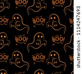 abstract seamless halloween... | Shutterstock . vector #1114247693