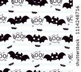 abstract seamless halloween... | Shutterstock . vector #1114248716