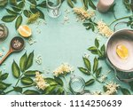 elder flowers  cooking... | Shutterstock . vector #1114250639