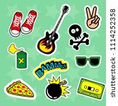 fashion patch badges with... | Shutterstock . vector #1114252358