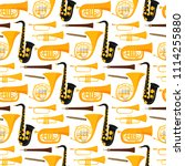 wind musical instruments tools... | Shutterstock .eps vector #1114255880