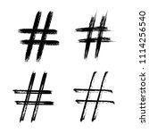 set of brush hashtag signs... | Shutterstock .eps vector #1114256540
