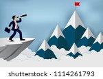 business success concept.... | Shutterstock .eps vector #1114261793