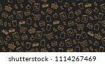 seamless pattern for gas... | Shutterstock .eps vector #1114267469