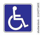 disabled icon  parking  toilet... | Shutterstock .eps vector #1114271603