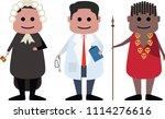 professional judge  paramedic... | Shutterstock .eps vector #1114276616