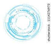 futuristic vector interface on... | Shutterstock .eps vector #1114276973