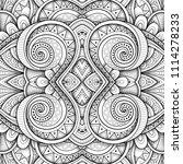 monochrome seamless tile... | Shutterstock .eps vector #1114278233